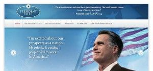 Sieger-Webseite von Romney versehentlich online