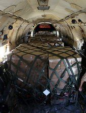 Österreich schickt eine Hilfsgüterlieferung in Irak
