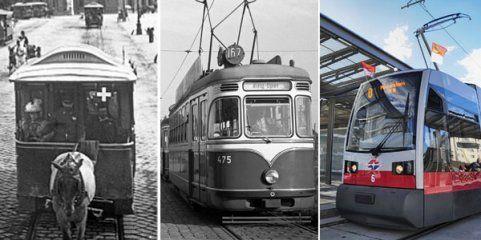 Die Straßenbahn in Wien - von der Pferdetramway bis zum ULF