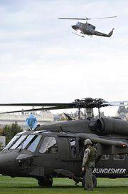 Nationalfeiertag: Erste Hubschrauber gelandet