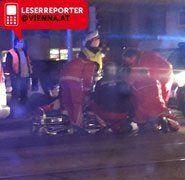 Fußgänger bei Unfall in Floridsdorf verletzt