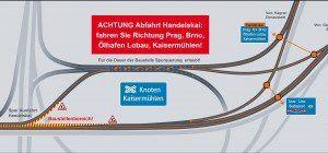 Bauarbeiten auf der Praterbrücke: Neue Spurführung auf der A23