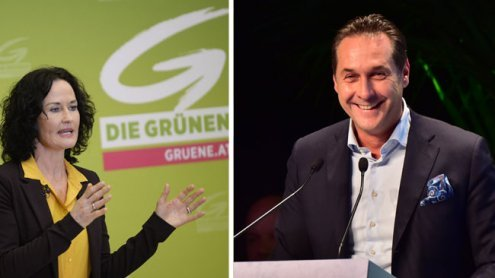 Glawischnig spendet 2.000 Euro, Strache orakelt über Wahl-Verlauf