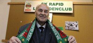 Wiener Rapid-Legende Alfred Körner feiert am Sonntag seinen 90. Geburtstag