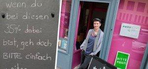 "FPÖ erstattet Anzeige gegen ""Fett + Zucker""-Besitzerin wegen Anti-Hofer-Schild"