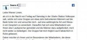 Wienerin in U3-Station von Männergruppe belästigt: Übergriff verhindert