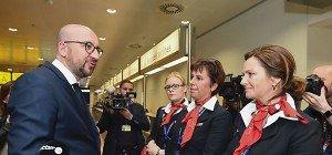 Abflughalle am Brüsseler Flughafen wiedereröffnet