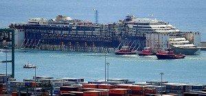Letzte Teile der Costa Concordia im Hafen Genua abgebaut