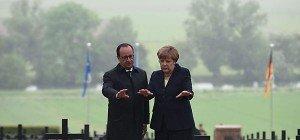 Merkel und Hollande riefen in Verdun zu Geschlossenheit auf