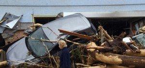 Unwetter verwüsteten viele Orte im Süden Deutschlands