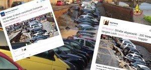 200 Meter langes Erdloch: Autos in Florenz sackten in Asphalt-Krater