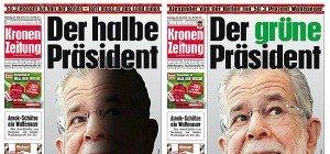 """""""Kronen Zeitung"""" titelt mit unterschiedlichen Van der Bellen-Covers"""