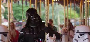 Darth Vader am glücklichsten Ort der Welt