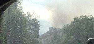 Großbrand eines Hauses am Zimmermannplatz in Wien-Alsergrund