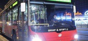 PKW gegen Nachtbus: Zwei Verletzte in Ottakring