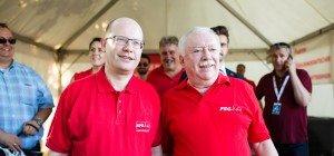 Häupl begrüßte auf der Donauinsel Tschechiens Premier Sobotka