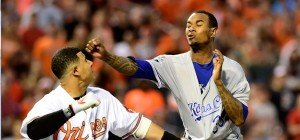 Schlägerei  in der MLB: Baltimore Orioles gegen Kansas City Royals