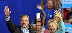 "Clinton stellt ""Vize"" vor: Kaine baut Brücken statt Mauern"
