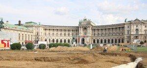 Grabungen für Parlamentsumbau am Heldenplatz in vollem Gange