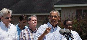 Obama besucht Hochwassergebiete in Louisiana
