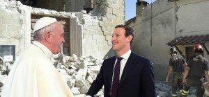 Mark Zuckerberg spendet 500.000 Euro für Erdbebenopfer in Italien