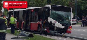 Linienbusunfall in Wien: Drei Verletzte