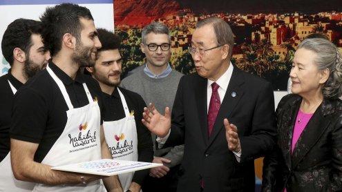 """Ban Ki-moon bei Wien-Besuch: """"Baut keine neuen Mauern"""""""