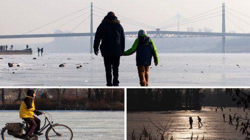 Neue und Alte Donau ruhen im Eis