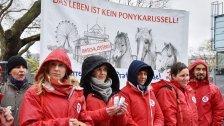 Vier Pfoten-Protest für die Prater-Ponys