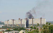 Lkw-Brand nahe Wohnpark Alt Erlaa