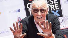 Marvel-Zeichner Stan Lee in Zement verewigt