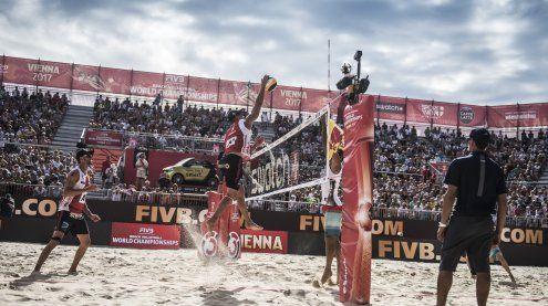 12.000 Besucher: Das war der 1. Tag bei der Beach Volleyball WM