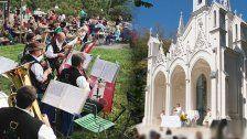 Kirchtag Am Himmel mit Messe und Frühschoppen