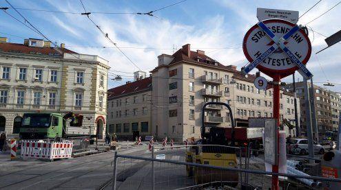 Johann-Nepomuk-Berger-Platz: Ein Blick auf die Großbaustelle