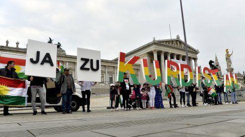 Wien: Solidarität für Kurden-Unabhängigkeitsreferendum