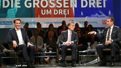 """HC Strache zu Dreier-Koalition:""""Ist nicht zweckführend"""""""