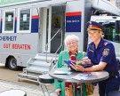 Präventionsbus der Polizei ist in Wien-Donaustadt unterwegs