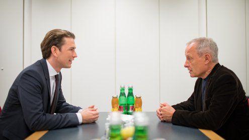 Koalition: Peter Pilz traf Sebastian Kurz zum Sondierungsgespräch