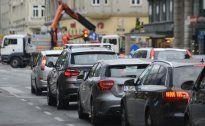 Bauarbeiten am Rautenweg und am Siegesplatz in Wien