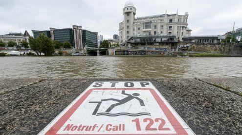 Rauferei mit 20 Beteiligten in der City: Mann stürzt in Donaukanal