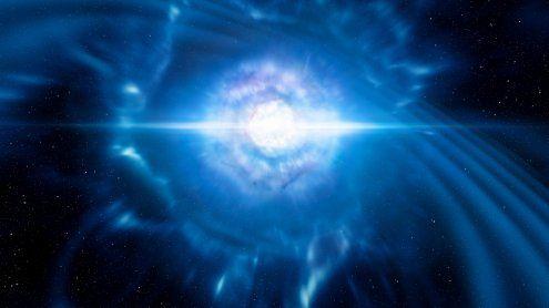 Forscher beobachten erstmals Kollision von Neutronensternen