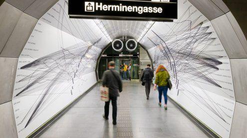 Wandbild in Wiener U-Bahn-Passage gedenkt NS-Opfern