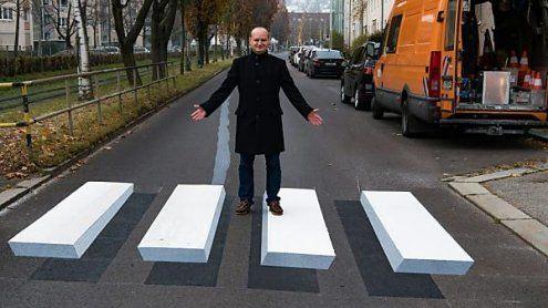 Linz bekam ersten 3D-Zebrastreifen Österreichs