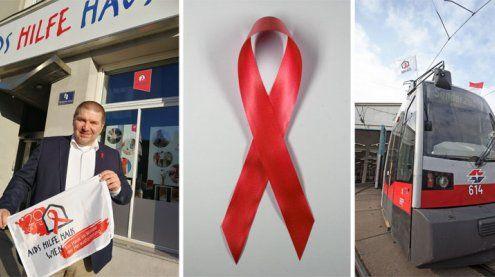 Zum Welt-Aids-Tag: Wiener Linien und Aids Hilfe Wien zeigen Flagge