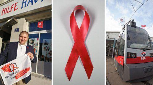 Welt-Aids-Tag 2017: Wiener Linien und Aids Hilfe Wien zeigen Flagge