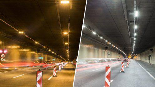 A22: Neue LED-Beleuchtung für den Wiener Kaisermühlentunnel