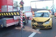 S5 Richtung Wien: Fahrer-flucht nach Auffahrunfall