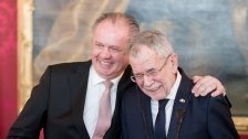 Slowakischer Präsident Kiska bei Van der Bellen
