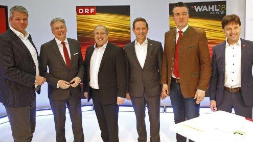 "ORF-""Elefantenrunde"" zur Landtagswahl in Kärnten 2018"