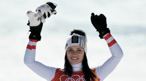Anna Veith holte im Super-G der Damen bei Olympia zweiten Platz